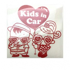 hihi_sticker_kids-in-car-red